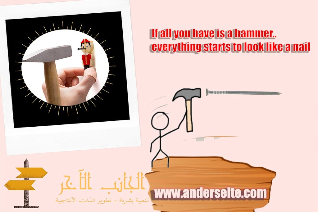 صورة If all you have is a hammer..everything starts to look like a nail